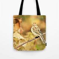 sparrow Tote Bags featuring Sparrow by Shelby Babbert Photography