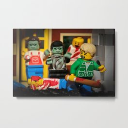 Night of the Lego Dead Metal Print