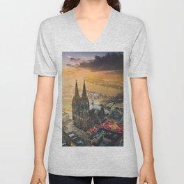 Cologne Cathedral Unisex V-Neck