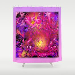 PEONY IN JUNE ABSTRACT Shower Curtain