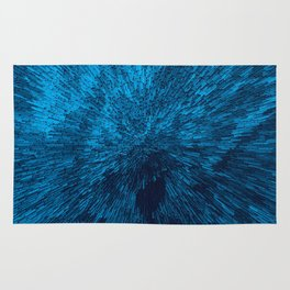 Bold Burst in Blue Rug