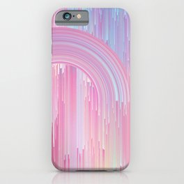 Glitched Rainbow iPhone Case
