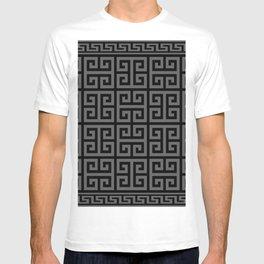 Greek Key (Black & Grey Pattern) T-shirt