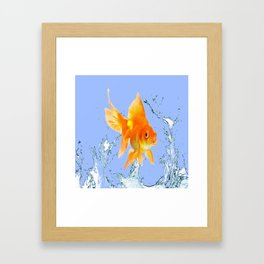 DECORATIVE  GOLDFISH SPLASHING  WATER ART Framed Art Print