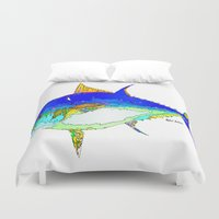 marine Duvet Covers featuring Marine Life by Rafael Salazar