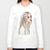 creepy Long Sleeve T-shirts featuring Creepy Chan by Helen Green