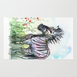 Zebra Whimsical Animal Art Rug