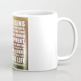 Life Begins At Conception Coffee Mug
