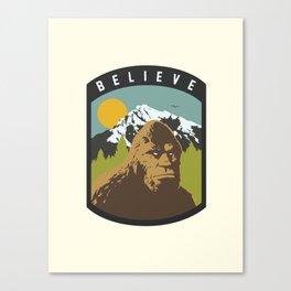 Bigfoot Patch Canvas Print