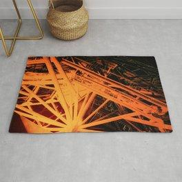 Roof Strut Abstract in Orange Rug