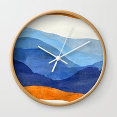 Mountains in the Morning Wall Clock