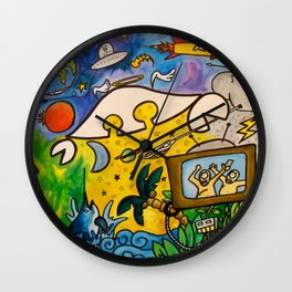 CRB in Outerspace Wall Clock