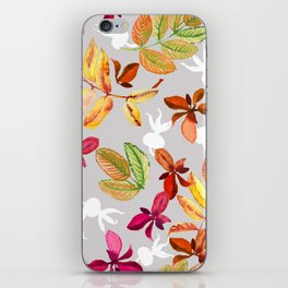 Seamless pattern of leaves of mountain ash and dogrose iPhone Skin