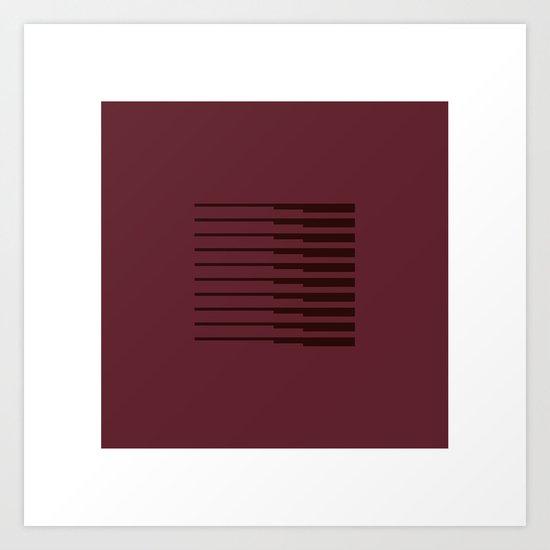 #44 Rectangular dawn – Geometry Daily Art Print