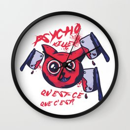 Psycho Killer Cat Wall Clock