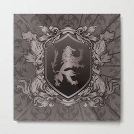 Vintage Heraldic Lion Coat of Arms Metal Print