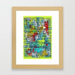 Random Cells 7 Framed Art Print