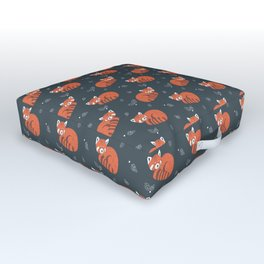 Red Panda Pattern Outdoor Floor Cushion