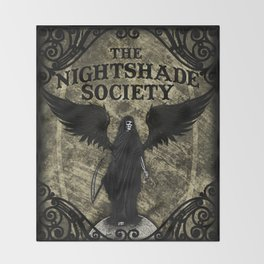 The Nightshade Society Throw Blanket
