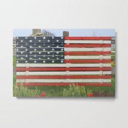 American Flag Rustic Metal Print