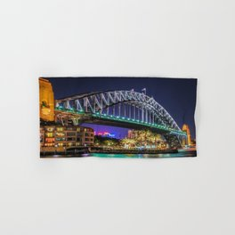 Sydney Harbor Bridge at Night Hand & Bath Towel