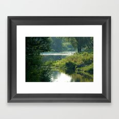 Talking to the Nature Framed Art Print