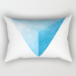 cosmic triangle Rectangular Pillow