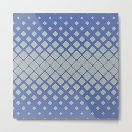 Elegant Geometric Pulse in Deep Baby Blue Metal Print