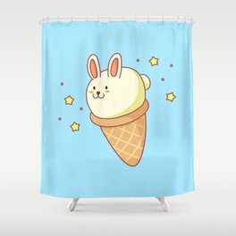 Bunny-lla Ice Cream Shower Curtain