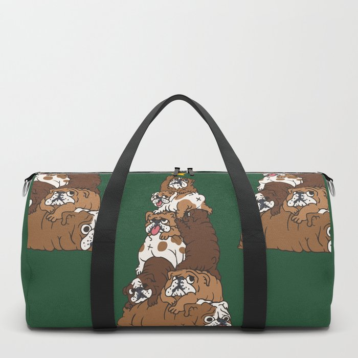 Christmas Tree English Bulldog Duffle Bag