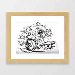 Shark Fink Framed Art Print