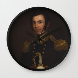 Alfred Jacob Miller - Portrait of Colonel Alexander Smith (1790-1858) Wall Clock