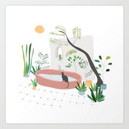 Garden in Bali Art Print