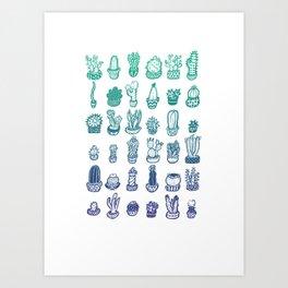 Cactus Club Art Print
