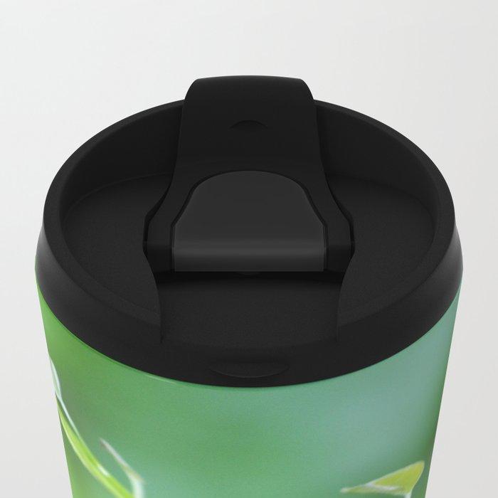 Cute Baby Curlicue Vines Metal Travel Mug