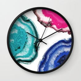 Tris of Agate Wall Clock