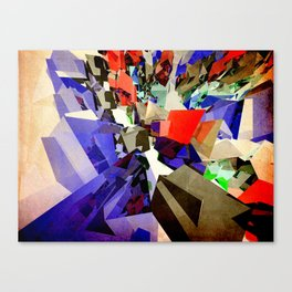 Colorful Abstract Geometric Cluster Canvas Print