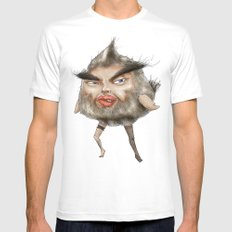 ugly angry angry man bird White MEDIUM Mens Fitted Tee