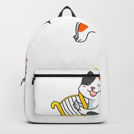 Catty Cat Cupid Cat Angel with Harp Backpack