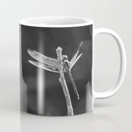 Dragon Fly in Black and White Coffee Mug