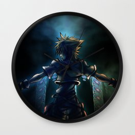 Dive to the heart - dark Wall Clock