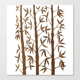 Gold Bamboo Trees Canvas Print
