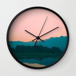 Sunrise in Kashmir Wall Clock