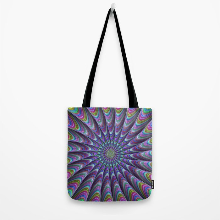 Twisted fractal sun Tote Bag