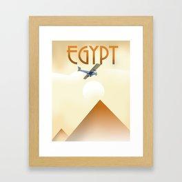 Egypt Travel poster Framed Art Print