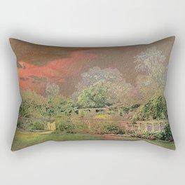English Garden Sunset Rectangular Pillow