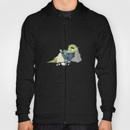 Hipster Dinosaur adds the latest chapters to his novel Hoody