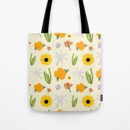 California Wildflower Pattern Tote Bag