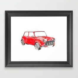 Red Mini Cooper Framed Art Print