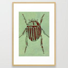 Bug Etching 2 Framed Art Print